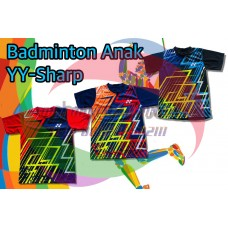 kaos badminton anak YY sharp