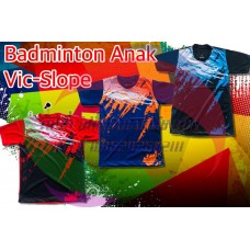 kaos badminton anak vic slope